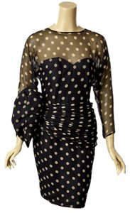 Vicki Teal Polkadots Dress
