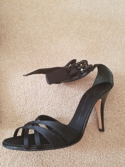 Giuseppe Zanotti Bracelet Wedding Tie Black Sandals Image 1