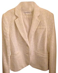 Calvin Klein Lace Cotton White Blazer