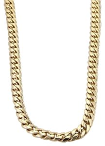 Mens 14k Yellow Solid Gold 7mm Wide Curb Link Chain Necklace 31 Long 122 Grams