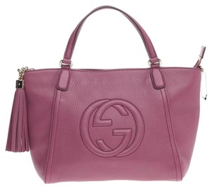 Gucci Top Handle Leather Tote