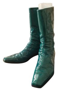 Stuart Weitzman Patent Ankle Turquoise Boots