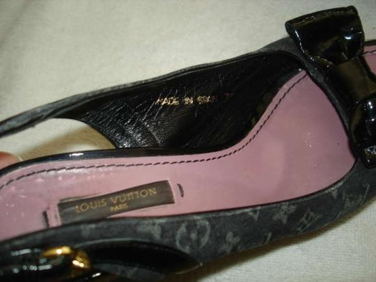 Louis Vuitton Monogram Denim Wedges