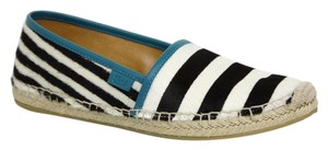 Gucci Pony Hair 353989 Black White Flats