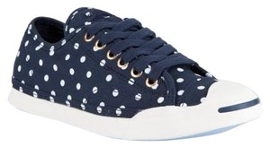 Converse Jack Polka Dot Removable Footbed Comfortable Navy and White Athletic