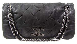 Chanel Lambskin Shimmer Flap Jumbo Shoulder Bag