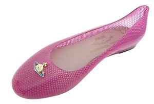Vivienne Westwood Melissa Wanting Rubber Pink Flats