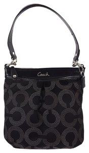 Coach Dotted Op Art Shoulder Bag