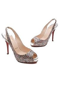 Christian Louboutin No Prive Glitter Pumps