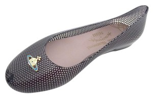 Vivienne Westwood Melissa Wanting Rubber Black Flats