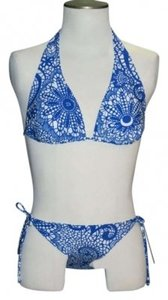 Kali Girlz New Size Medium Kali Girlz Blue/White Halter Top