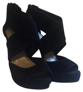 Vince Camuto Black True Suede Platforms