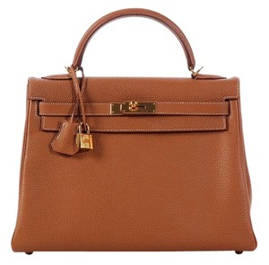 Hermès Light Brown Hr.k0620.01 Tan Togo Leather Satchel