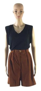 Escada Vintage Suede Small Dress Shorts Rust