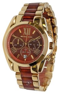Michael Kors BRAND NEW WOMENS MICHAEL KORS (MK6269) BRADSHAW GOLD TONE BROWN WATCH