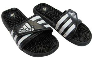 adidas Men's Size 9.00 M Black, White, Sandals