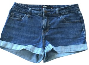 BDG Shortie Denim Cuffed Shorts Blue