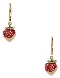 Kate Spade New kate spade outside the box strawberry drop earrings Gold