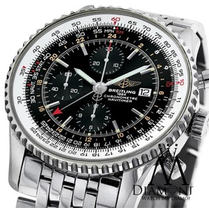 Breitling Breitling Navitimer World GMT Black Face Chronograph A24322 46mm Watch