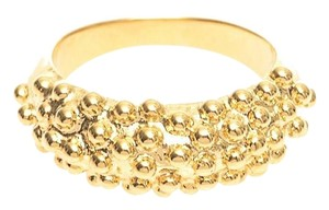 Balenciaga Balenciaga Bubble Ring Simple Gold Ring $495
