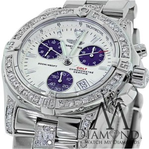 Breitling Breitling Colt Chronograph A73380 Cream Dial Blue Diamond Mens Watch