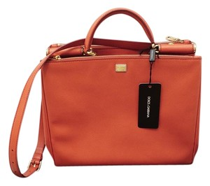 Dolce&Gabbana Dolce & Gabbana Dolce D&g Like New Miss Sicily Tote in Coral