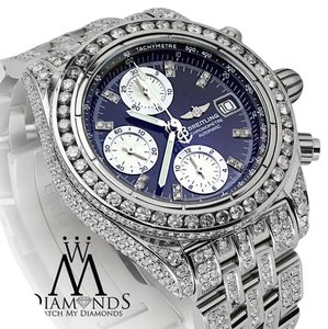 Breitling Breitling Galactic Chronograph II 44mm Custom Diamonds Watch A13364