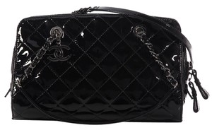 Chanel Black Quilted Charm Shoulder Bag