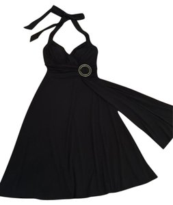 White House | Black Market Halter Buckle Sash Dress