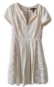 BCBGMAXAZRIA short dress Cream on Tradesy