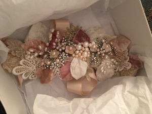 Vintage Pearl And Crystal Sash