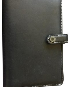 Coach Black Leather Coach Agenda