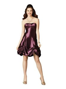 Alfred Angelo Wild Orchid Taffeta 7189 Formal Bridesmaid/Mob Dress Size 8 (M)