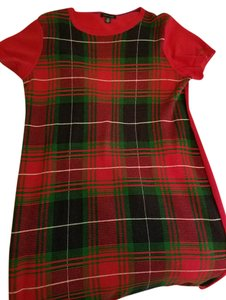 Tommy Hilfiger short dress Red - checkered Sweater Logo on Tradesy