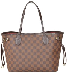 Louis Vuitton Monogram Neverfull Tote in Damier Ebene