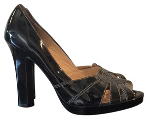 Cole Haan Black patent Platforms