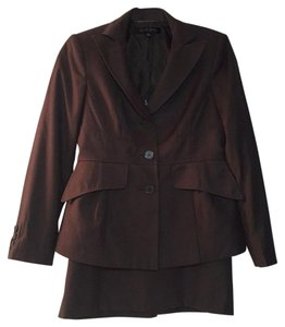 Anne Klein ANNE KLEIN SKIRT SUIT Petite BROWN GRAY CHARCOAL Size 4P
