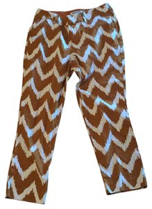 Old Navy Capris Rust and Ivory