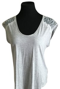 Massimo Dutti Top Gray and whitw