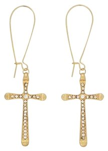 Other Crystal Rhinestone Cross Earrings