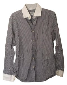 Guess By Marciano Button Down Shirt White and grey