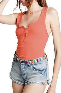 Free People Timeout Racerback Top CORAL