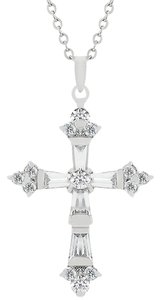 Other Brilliant Cubic Zirconia Cross Pendant Necklace [SHIPS NEXT DAY]