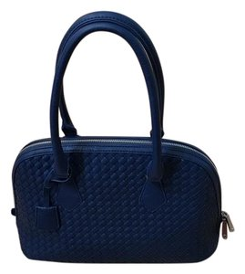 Charming Charlie Dome Satchel Tote in Navy Blue