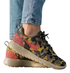 Nike Casual Roshe One Camo Prints Multi-color Athletic