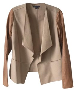 Vince Beige/camel Leather Jacket