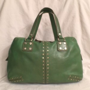 Michael Kors Rare Leather Satchel in Lime Green