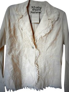 Lirome Bohemian Country Cottage Summer Spring Nude Womens Jean Jacket