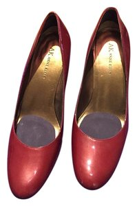 Anne Klein Heel Pump Formal Work Dark Red Pumps