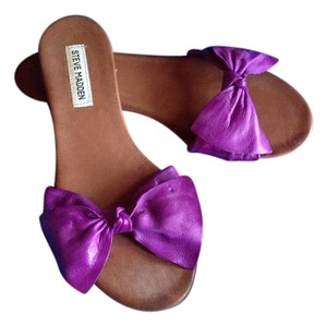 Steve Madden Resort Wear Sexy Cute Beach Wedding Purple Sandals